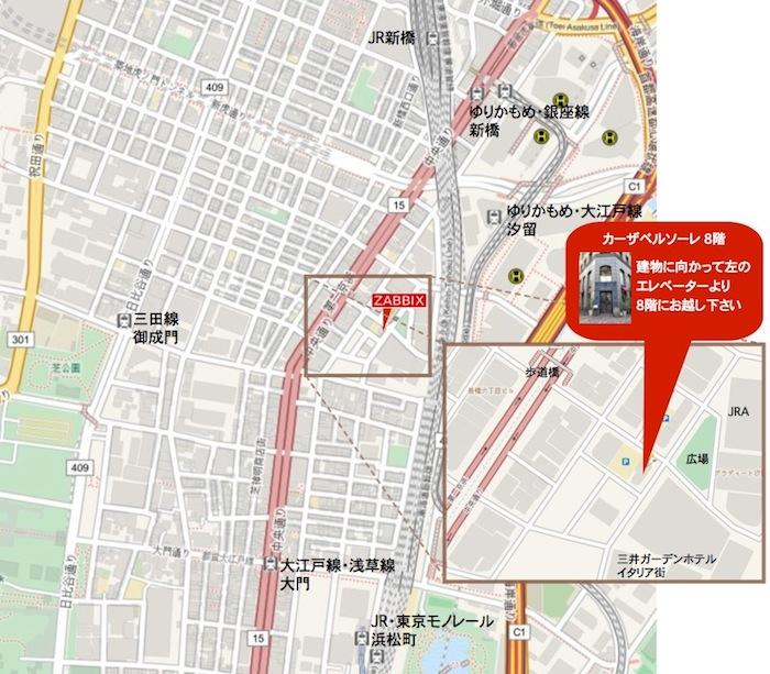 Zabbix Japan地図