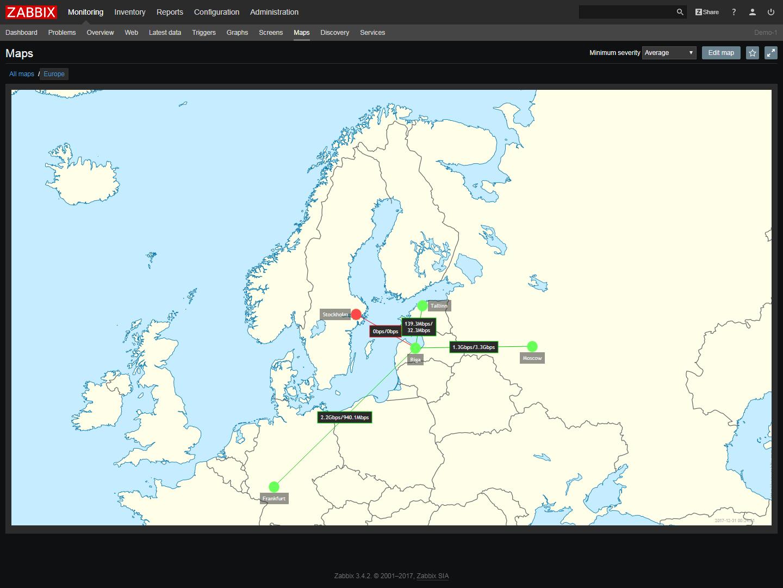 Network geomap